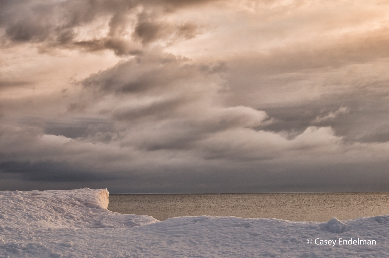 Clearing Snowstorm over Lake Superior