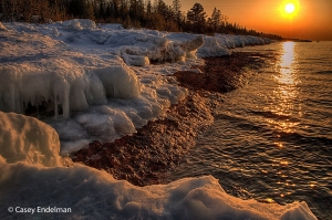 Lake Superior Coast at Sunset