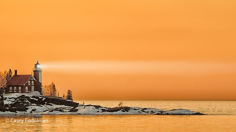 Eagle Harbor Light at Sunset