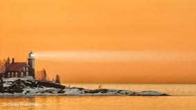 Eagle Harbor Light at Sunset