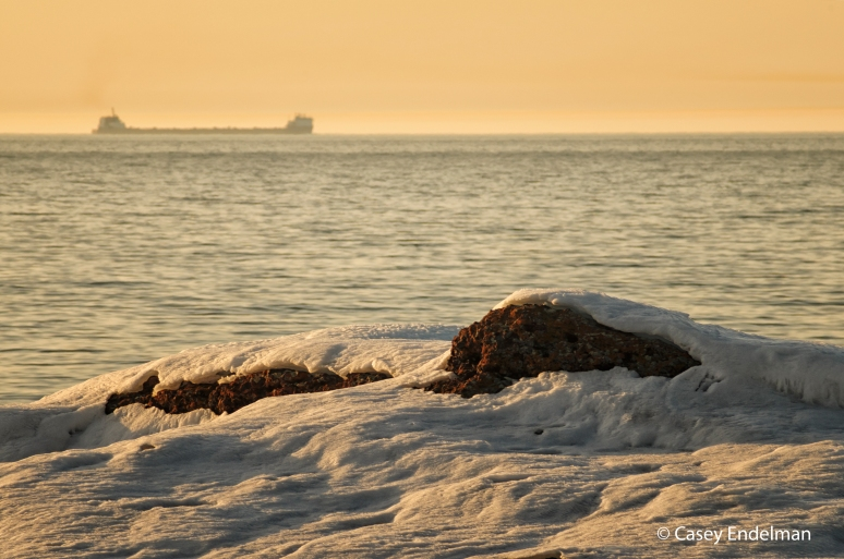 Freighter on Lake Superior