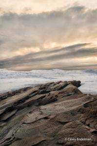 Lake Superior Rocks at Sunrise