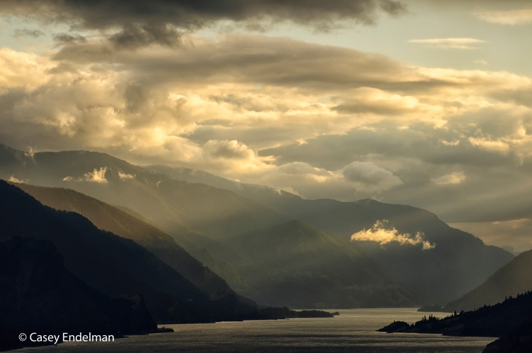 Gorge Sunset Beams