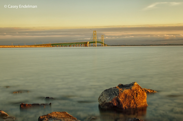 Mackinac Bridge Sunset Slowscape