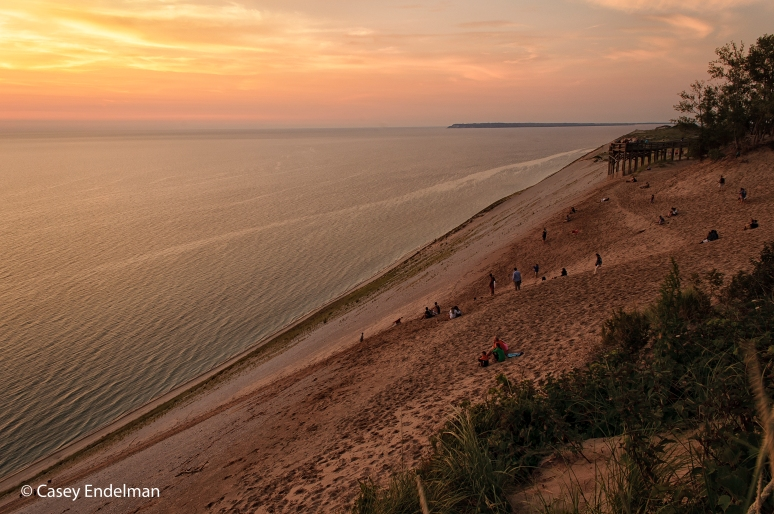 Sleeping Bear Dunes Overlook at Sunset