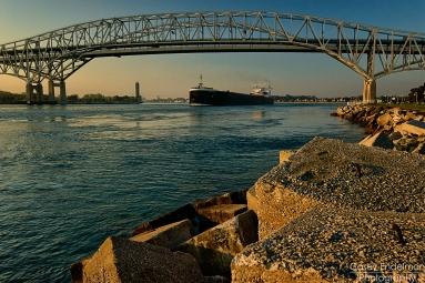 American Integrity under the Blue Water Bridges