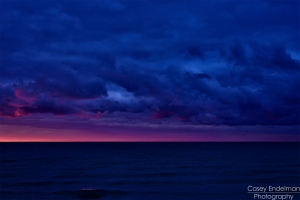 Lake Superior Sunset Red Vs. Blue